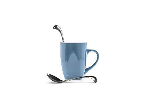 OTOTO Sweet Nessie Sugar Spoon- Stainless Steel Tea Spoons- 100% Food Grade & Dishwasher Safe Silver Spoons- Tea spoon for Tea & Coffee- Small Spoons