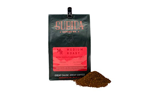 Subida Coffee, Medium Roast, Ground Coffee, 12oz, Supports Agriscience Education, Single Origin.