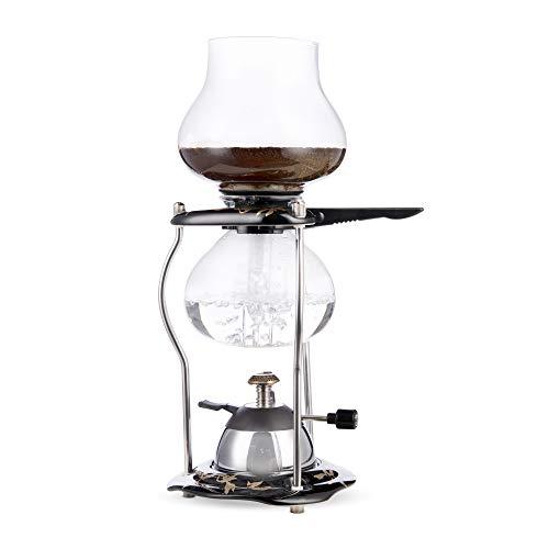 Yama Glass Tabletop w/Ceramic Base (20oz) 5-Cup Coffee Siphon with Butane Burner