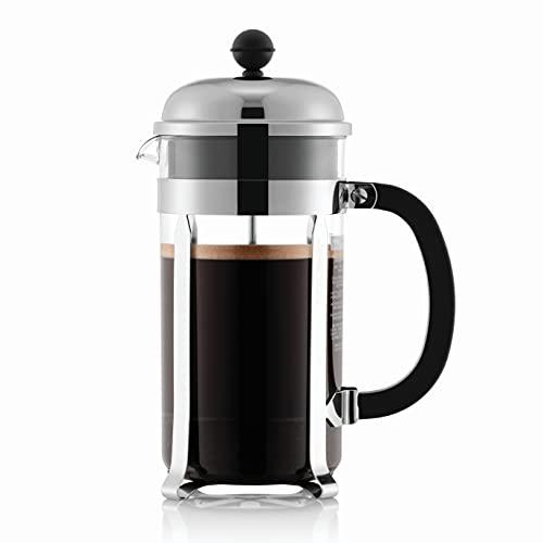 Bodum 1928-16US4 Chambord French Press Coffee Maker, 1 Liter, 34 Ounce, Chrome