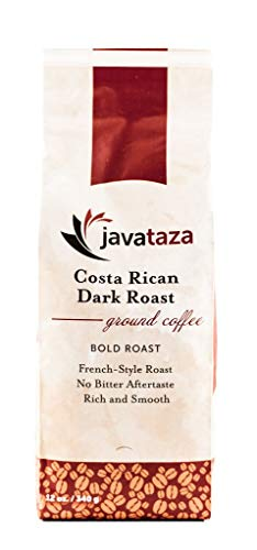 Costa Rican Dark Roast Ground Coffee -12oz Fairly Traded, Naturally Shade Grown (Ground)