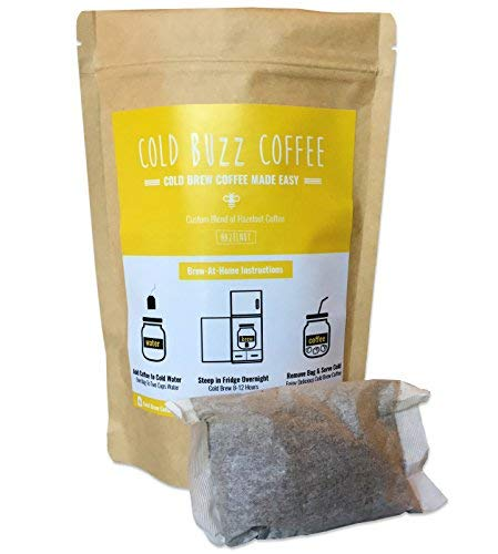 Hazelnut Cold Brew Iced Coffee (5-pack) | Cold Buzz Coffee Bean Bag Packs