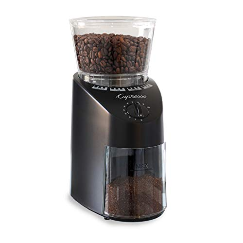 Capresso Infinity Conical Burr Grinder, Black 8.8 oz