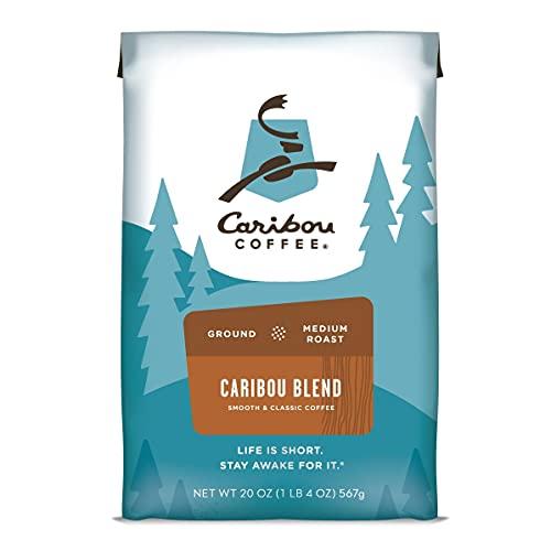Caribou Coffee, Caribou Blend, Medium Roast Ground Coffee, 20oz, Rainforest Alliance Certified