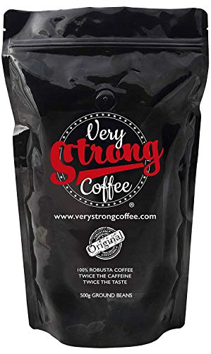 Very Strong Coffee 500g - Ground Beans - 100% ROBUSTA COFFEE - TWICE THE CAFFEINE - TWICE THE TASTE.