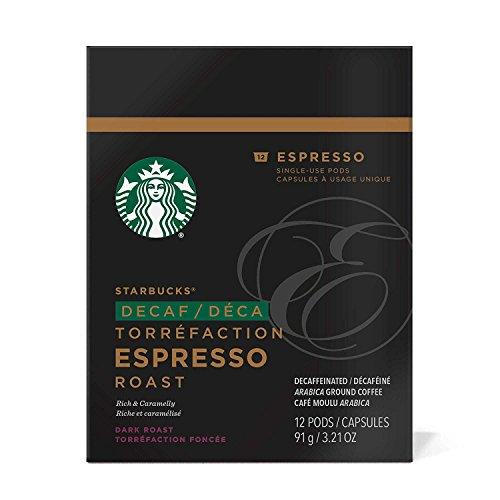 Starbucks Verismo Decaf Coffee Pods, Espresso Roast, 12 CT