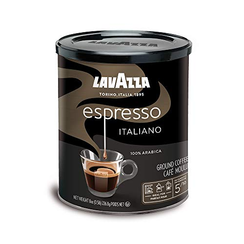 Lavazza Espresso Italiano Ground Coffee Blend, Medium Roast, 8-Ounce Cans, Pack of 4 (Packaging May Vary)