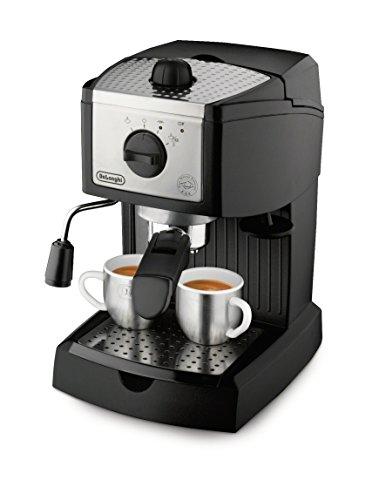 DeLonghi EC155 15 Bar Espresso and Cappuccino Machine, Black