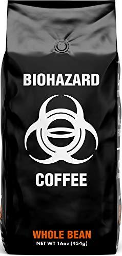 Biohazard Whole Bean Coffee, The World's Strongest Coffee 928 mg Caffeine (16 oz)