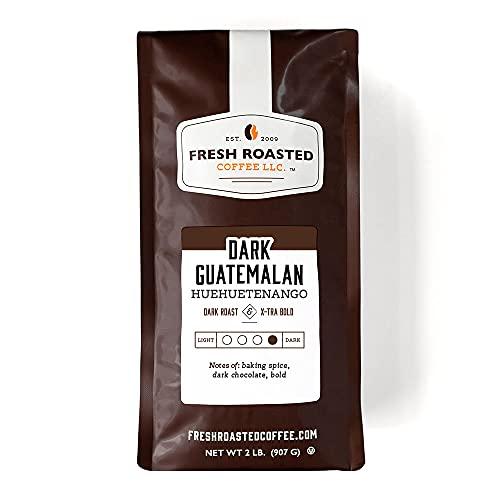 Fresh Roasted Coffee, Dark Guatemalan Huehuetenango, Dark Roast, Kosher, Whole Bean, 32 Ounce