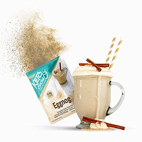 Keto Chow   Keto Meal Replacement Shake   Nutritionally Complete   Low Carb   Delicious Easy Meal Substitute   You Choose The Fat   Eggnog   Single Meal Sample