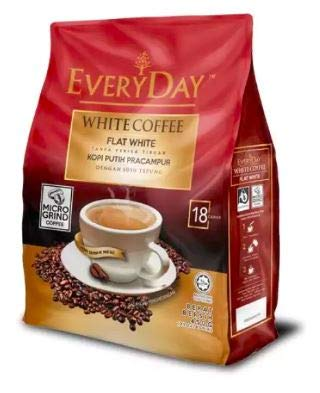 EveryDay White Coffee Flat White/Delicious Charcoal Aroma with Creamy Texture/ 18s x 25g/pack