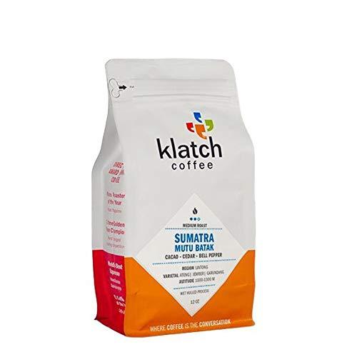 "Klatch Coffee ""Sumatra Mutu Batak"" Medium Roasted Whole Bean Coffee - 12 Ounce Bag"