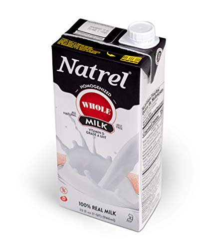 Natrel Whole Milk, 32 Ounce (Pack of 6)