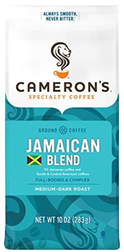 Cameron's Coffee Roasted Ground Coffee Bag, Jamaican Blend, 10 Ounce