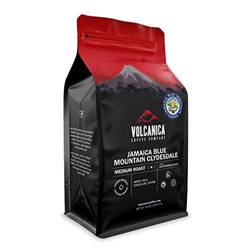Volcanica Jamaican Blue Mountain Coffee, 100% Pure, Whole Bean, Fresh Roasted, 16-ounce