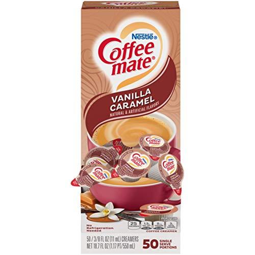 Nestle Coffee Mate Coffee Creamer, Vanilla Caramel, Liquid Creamer Singles, Box of 50 Singles