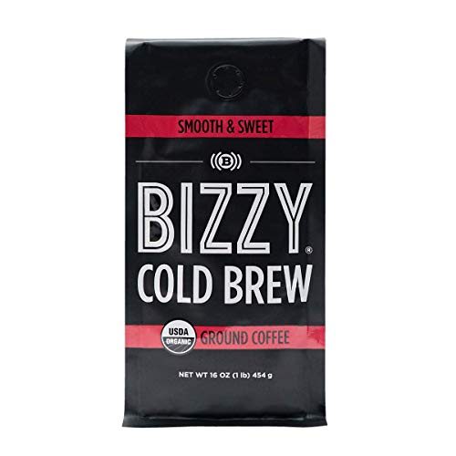Bizzy Organic Cold Brew Coffee | Smooth & Sweet Blend | Coarse Ground Coffee | Micro Sifted | Specialty Grade | 100% Arabica | 1 LB