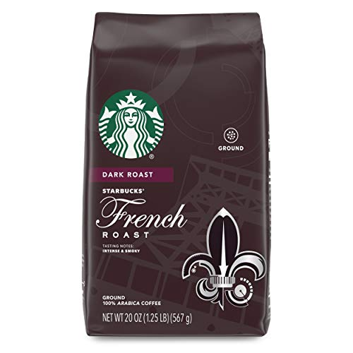 Starbucks Dark Roast Ground Coffee — French Roast — 100% Arabica — 1 bag (20 oz.) Great Holiday Gift