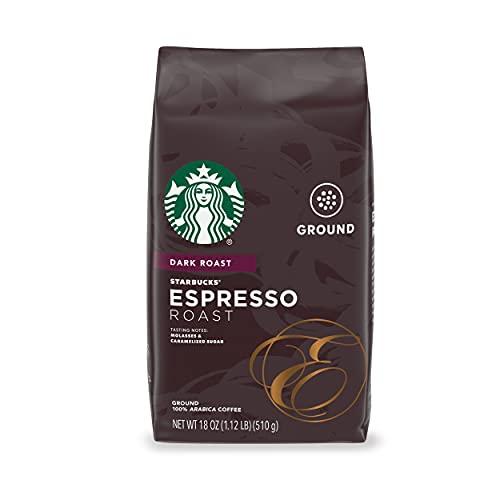 Starbucks Dark Roast Ground Coffee — Espresso Roast — 100% Arabica — 1 bag (18 oz.)