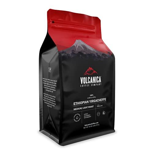 Ethiopian Coffee, Yirgacheffe Region, Organic, Whole Bean, Fresh Roasted, 16-ounce