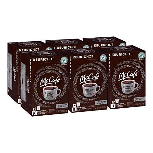 McCafe Medium Dark Espresso Roast Keurig K Cup Coffee Pods ,4.12 oz (Pack - 6)
