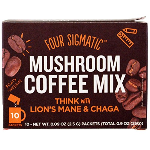 Four Sigmatic, Organic Lion's Mane Mushroom Coffee Mix, 0.09 Ounce, 10 Pack