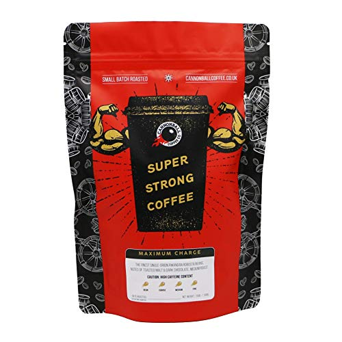 Maximum Charge Strong Coffee | Imported from the UK | 1101mg Caffeine | | Whole Bean | 1lb