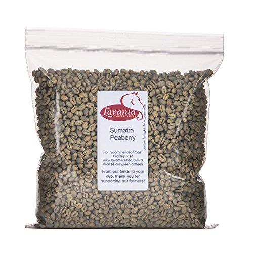Lavanta Coffee Roasters Sumatra Peaberry, Green, 2lb