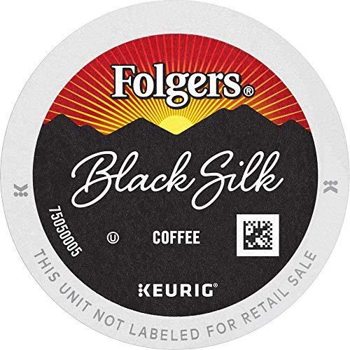 Folgers Black Silk Dark Roast Coffee, 72 Keurig K-Cup Pods
