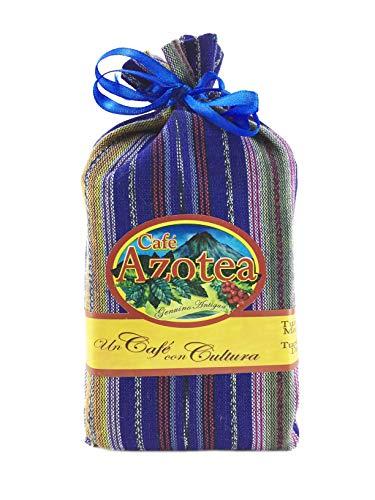 La Azotea Estate Genuine Antigua Guatemala Coffee - 100% Arabica SHB - Ecological Single Origin Gourmet Coffee with Guatemalan Tipico Textile Gift Bag (Dark Roast - Whole Bean, 11.5oz)