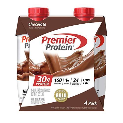 Premier Protein Shake, Chocolate, 30g Protein, 1g Sugar, 24 Vitamins & Minerals, Nutrients to Support Immune Health, 4 Count, 44 Fl Oz