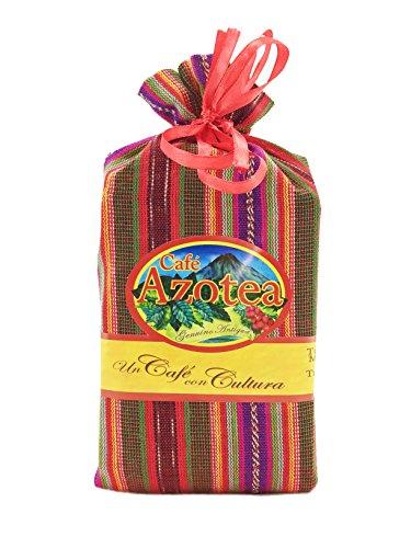 La Azotea Estate Genuine Antigua Guatemala Coffee - 100% Arabica SHB - Ecological Single Origin Gourmet Coffee with Guatemalan Tipico Textile Gift Bag (Medium Roast - Ground, 11.5oz)