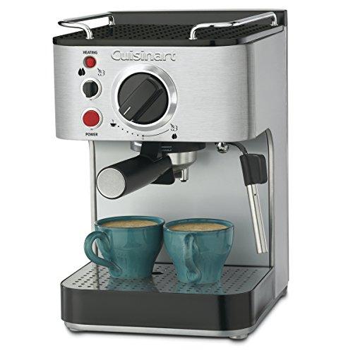 "Cuisinart EM-100NP1 1.66 Quart Stainless Steel Espresso Maker, 12.56""(L) x 8.19""(W) x 10.94""(H), Silver"