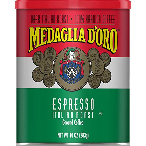 Medaglia D'Oro Italian Roast Espresso Style Ground Coffee, 10 Ounces